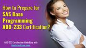 SAS Base Programming (A00-233) Certification Exam   Do Your Best