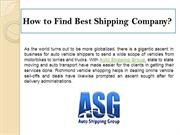 How to Find Best Shipping Company?