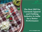 The Best ERP for Garment Apparel and Clothing industry in India for a