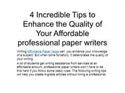 professional paper writers