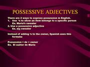 POSSESSIVE_ADJECTIVES