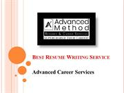 Best Resume Writing Services | Advanced Career Services