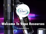 Vape Resources Presentation