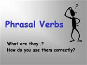 Phrasal Verbs