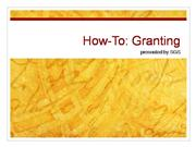 Granting How-To