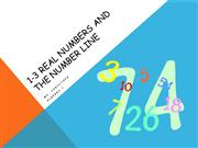 1 3 Real Numbers and the Number Line lecture
