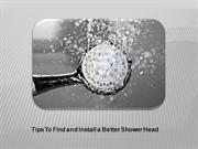 How to Find and Install Best Shower Head