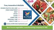 Best frozen vegetables manufacturing company in UAE