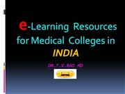 e-learning for Medical colleges