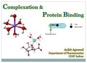 COMPLEXATION & PROTEIN BINDING