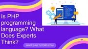 Is PHP programming language_ What Does Experts Think_