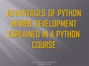 Advantages of Python in Web development explained in a Python Training