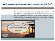 Why Drones Are Must Use For Aerial Survey