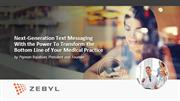 Next-Generation Text Messaging Transforming Your Medical Practice