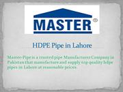 HDPE Pipe in Lahore