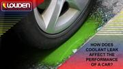 How does coolant leak affect the performance of a car