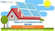 Types of Solar Panels in the Market