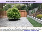 Hardscaping Tips for Beautiful Outdoor Space