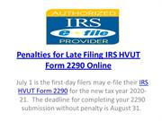 Penalties for Late Filing IRS HVUT Form 2290