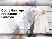 Legal Advice About Procedure of Court Marriage in Pakistan