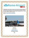 Rome Airport  Rome airport