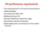 LTE performance requirements
