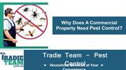 Why Does A Commercial Property Need Pest Control - Pest Control