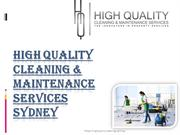 Book High Quality Cleaning Sydney for complete cleaning satisfaction