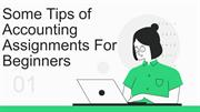 Some Tips of Accounting Assignments For Beginners