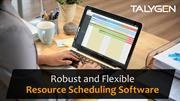 Robust and Flexible Resource Scheduling Software