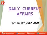 ppt CURRENT AFFAIRS 10th to 15th july 2020