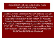 Home Tutor South East Delhi Central North Delhi