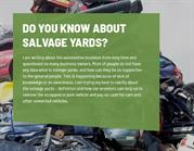 Do You Know About Salvage Yards