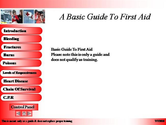 a basic guide to first aid |authorstream, Powerpoint templates
