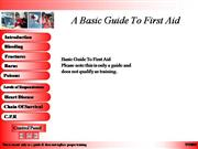 A Basic Guide To First Aid