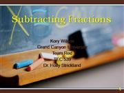 Subtracting Fractions 2