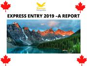 Express Entry 2019 –A Report