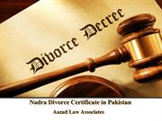 LeService For Nadra Divorce Certificate in Pakistan By Advocate Azad