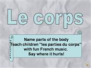 french: le corps