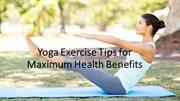 List of 6 tips using yoga exercise at home