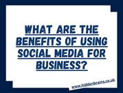 What are The Benefits of Using Social Media for Business_
