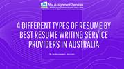 4 Different Types Of Resume By Best Resume Writing Service Providers I
