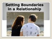 Setting Boundaries in a Relationship