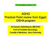 adhd practical point review from egypt: osha program