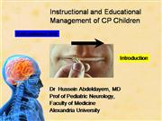 Instructional and Educational Management of CP Children: OSHA program