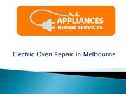 Electric Oven Repair in Melbourne