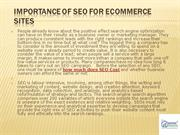 Importance of SEO for Ecommerce Sites