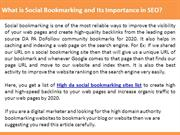 What is Social Bookmarking and Its Importance in SEO