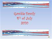 Gamble Family 4th of July