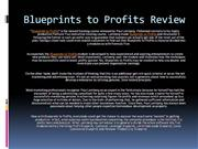 Blueprints to Profits Review